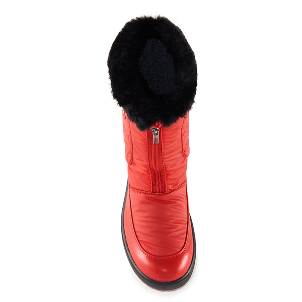 Olang GEMMA ROSSO Winter boot with folding cleats for women - Boutique du Cordonnier