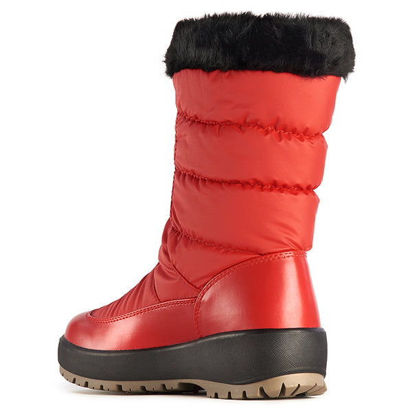 Olang GEMMA ROSSO winter Boot crampons fold down to women - Shop the Shoemaker