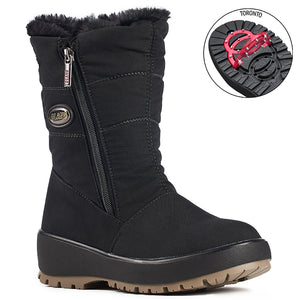 Olang GRACE NERO Botte d'hiver à crampons rabattables pour femmes winter boot with pivoting grip, designed to increase traction on ice and snow