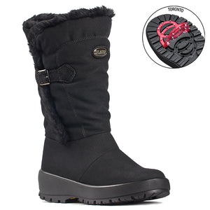 Olang MAGDA NERO Botte d'hiver à crampons rabattables pour femmes the winter boot with pivoting grip, designed to increase traction on ice and snow