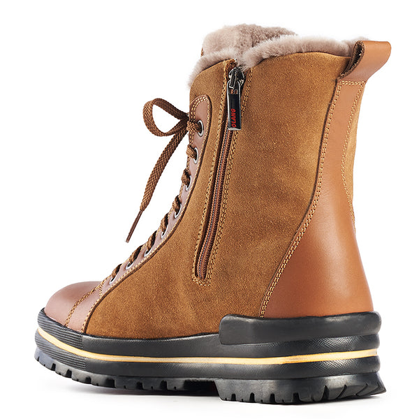 Olang ZAIDE CUOIO Winter boot with folding cleats for women - Boutique du Cordonnier
