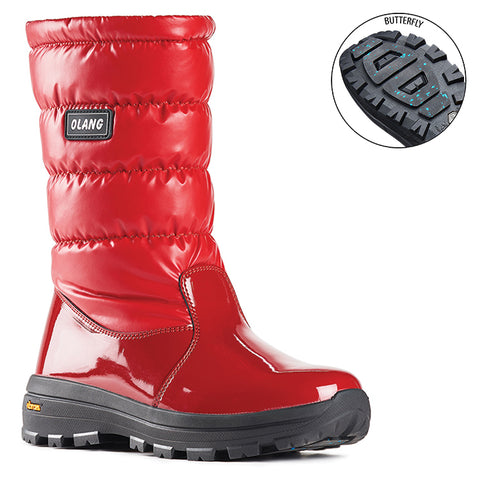 Olang Ontario ROSSO Winter Boot with Vibram Arctic Grip Sole for Women - Boutique du Cordonnier