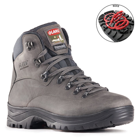 Olang Alabama ANTRACITE Boot with folding cleats for men - Coordinator's Shop
