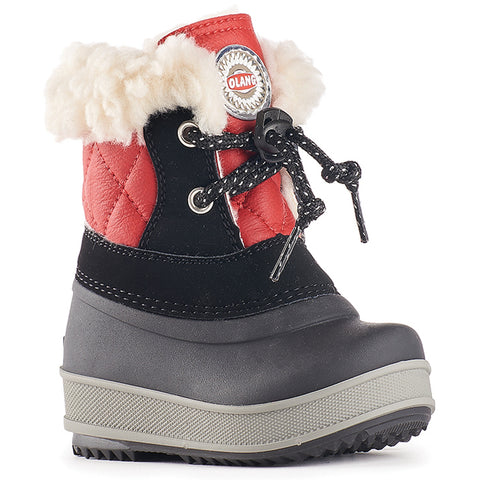 Olang APE NERO ROSSO Children's Winter Boots - Boutique du Cordonnier