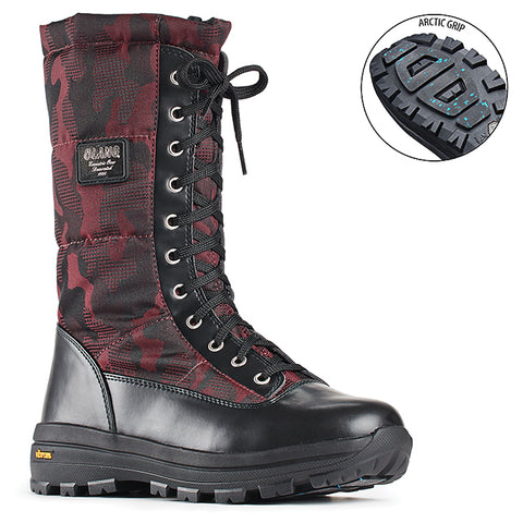 Olang PRESTIGE BORDO Winter Boots Vibram Arctic Grip outsole for Women - Boutique du Cordonnier