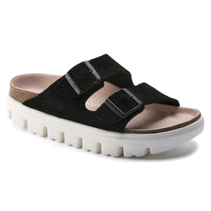 Papillio ARIZONA CHUNKY 1014920 Black Suede by Birkenstock Narrow Width - Boutique du Cordonnnier