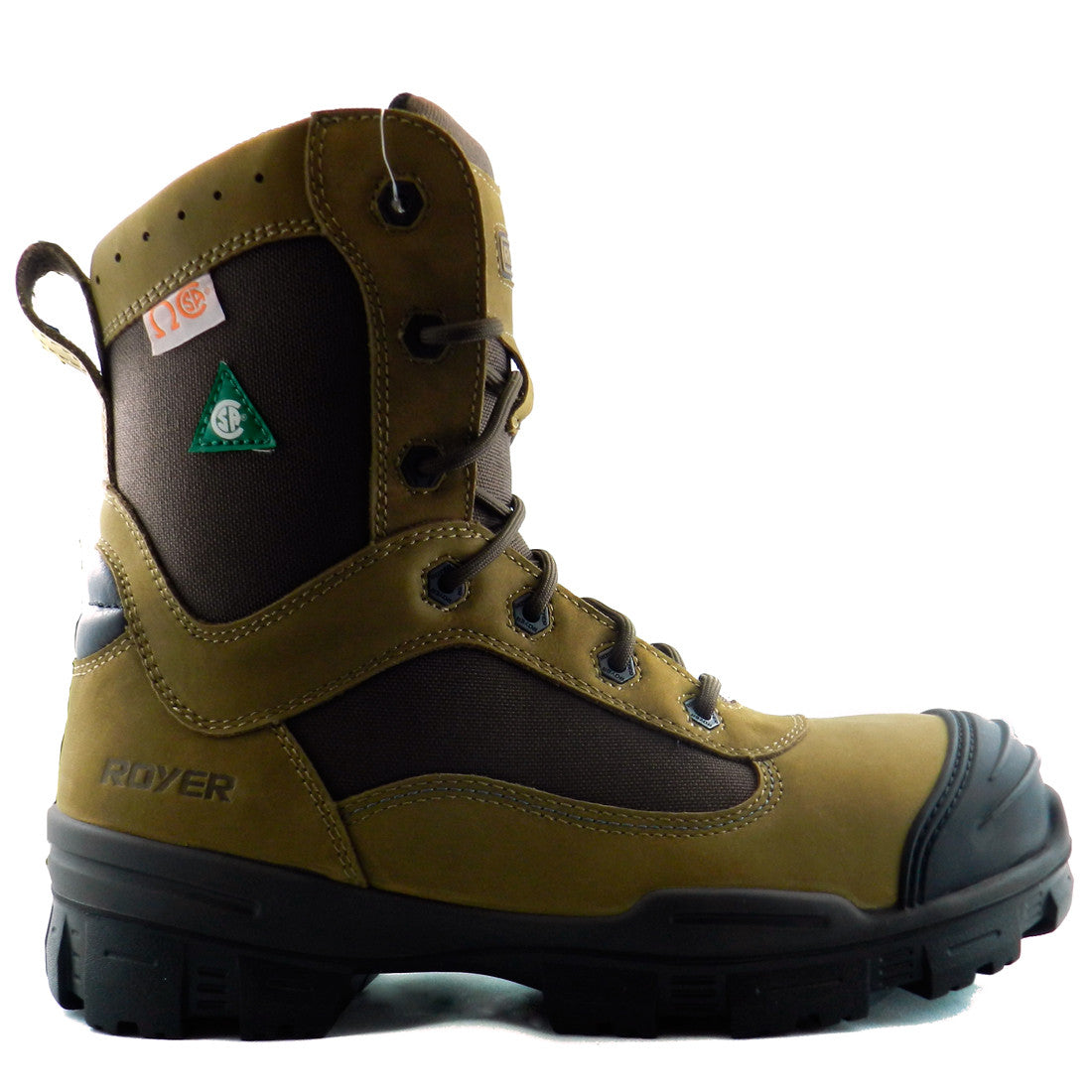 Royer 10-6220 Brun SANS MÉTAL Botte de travail Metal Free Safety Boots - Boutique du Cordonnier