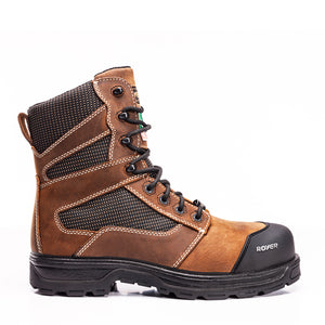 Royer 5720GT AGILITY Brown Metal Free Safety Boots, Assembled in Canada - Boutique du Cordonnier
