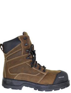 Royer 5727AG AGILITY ARTIC GRIP Brown Metal-free work boot Insulated -20C Metal Free Safety Boots Assembled in Canada - Boutique du Cordonnier