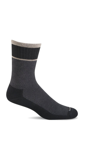 Sockwell SW29M Black Therapeutic Men's Socks Plantar Fasciitis Relief - Boutique du Cordonnier