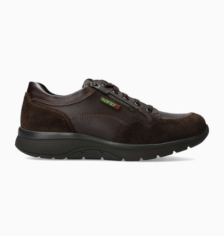 Sano ALEK Dark Brown 9851/4851 by Mephisto Comfortable Men Shoes with Removable Footbed - Boutique du Cordonnier