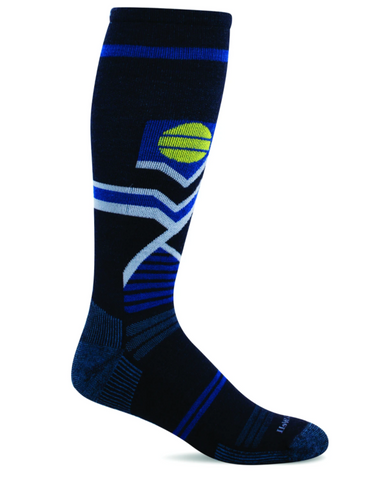 Sockwell SW58M Navy 600 Therapeutic Men's Socks Moderate Graduated Compression 15-20mmHg - Boutique du Cordonnier