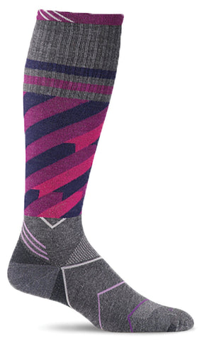 Sockwell SW44W Cyclone Charcoal 850 Therapeutic Women's Socks Moderate Graduated Compression 15-20mmHg - Boutique du Cordonnier