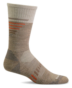 Sockwell CT36M Khaki Men's Ascend II Crew | Moderate Graduate Compression 15-20mmHg - Boutique du Cordonnier
