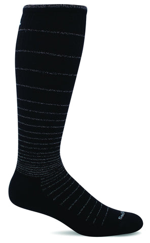 Sockwell sw1w black sparkle 902 women's therapeutic stockings moderate graduated compression 15-20mmhgSockwell SW1W Black Sparkle 902 Women's Therapeutic Socks Moderate Graduated Compression 15-20mmHg - Boutique du Cordonnier