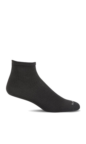 Sockwell SW35M Black Solid 905 Plantar Ease Qtr Therapeutic Men's Socks Plantar Fasciitis Relief - Boutique du Cordonnier