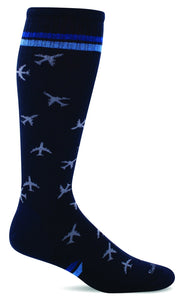 Sockwell SW56M Navy 600 Therapeutic Men's Socks Moderate Graduated Compression 15-20mmHg - Boutique du Cordonnier