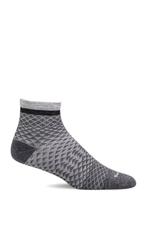 Sockwell SW62W CHARCOAL 850 therapeutic socks for women Plantar Fasciitis Relief - Boutique du Cordonnier