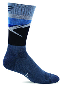 Sockwell SW98M Navy 650 Therapeutic Men's Socks Moderate Graduated Compression 15-20mmHg - Boutique du Cordonnier