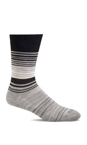 Sockwell SW2W Gray Socks for Women Relaxing Fashion (Diabetic) - Boutique du Cordonnier