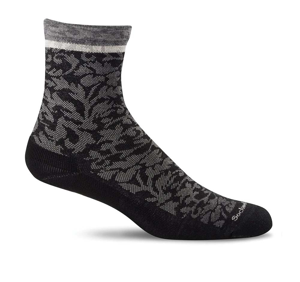 Sockwell SW32W Black therapeutic Women's Socks Plantar Fasciitis Relief - Boutique du Cordonnier