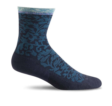 Sockwell SW32W Navy Therapeutic Stockings for Women Plantar Fasciitis Relief - Boutique du Cordonnier