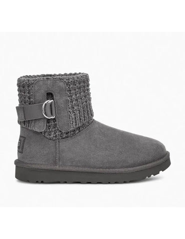 UGG Australia Classic Solene Mini 1113463 Charcoal Women's Winter Boots - Boutique du Cordonnier