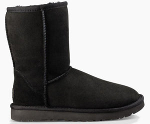UGG Australia CLASSIC SHORT II 1016223 Black Women's Winter Boot - Coordinator's Shop