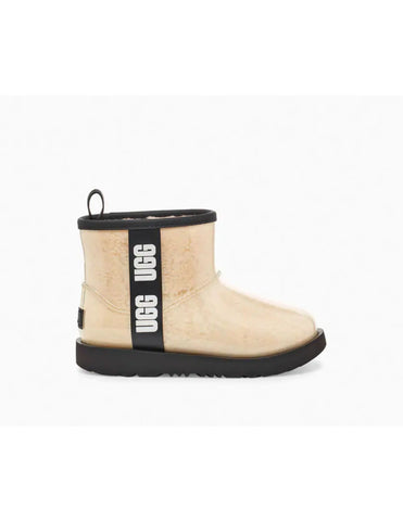 UGG Australia CLASSIC CLEAR MINI 1113190 Natural/Black Women's Winter Boot - Boutique du Cordonnier