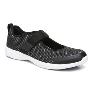 Vionic JESSICA MARY JANE SNEAKER Black and White Women's Shoe with arch support - Boutique du Cordonnier
