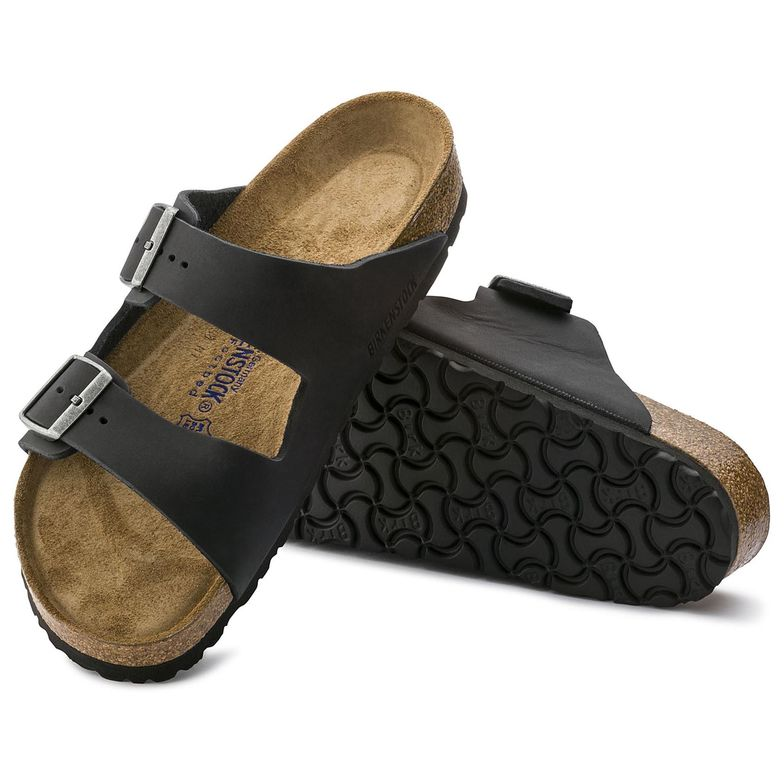 Birkenstock ARIZONA SOFT 752481 Black Oiled Leather Cuir Huilé