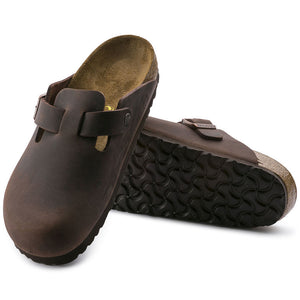 Birkenstock Boston 860131 Havana Oiled Leather Largeur Régulière - Boutique du Cordonnier