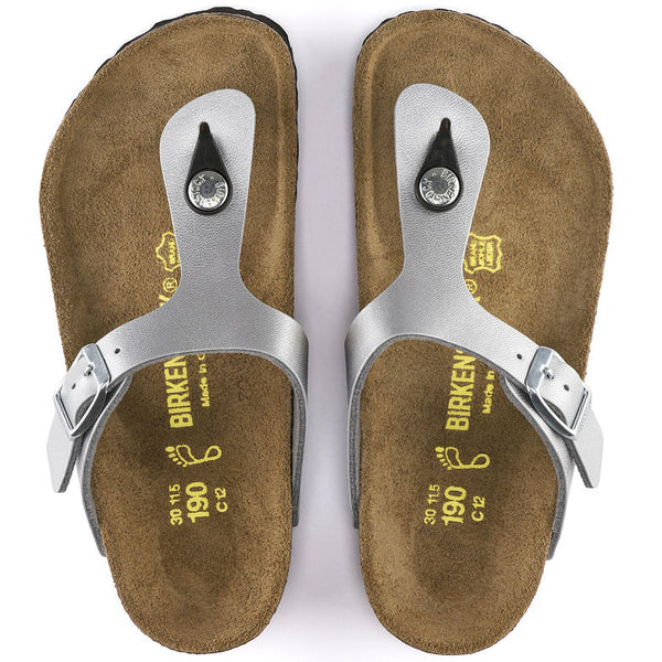 Birkenstock Gizeh Kids 846151 Silver Sandales for CHILDREN regular breadth - Boutique of the Shoemaker