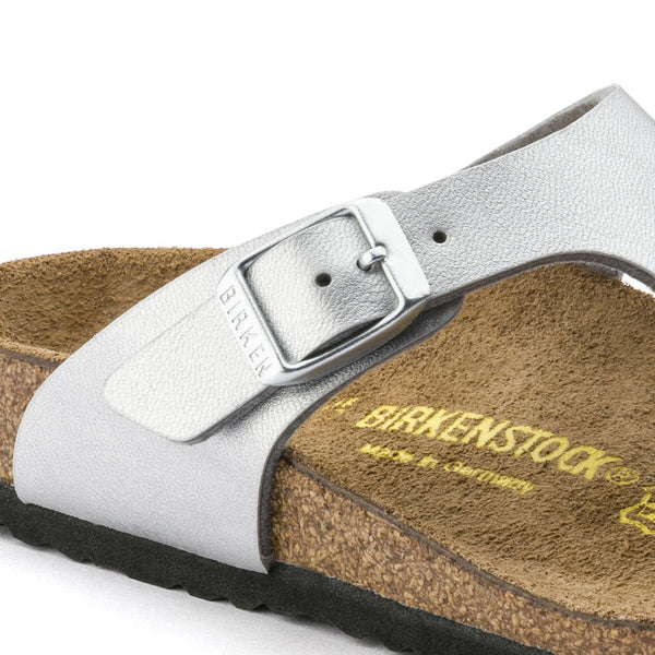 Birkenstock Gizeh Kids 846151 Silver Sandals for KIDS width regular - Shop of the Shoemaker