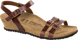 Birkenstock Papillio LANA 1008774 Cognac Talon Compensated for oiled leather women - Boutique du Cordonnier