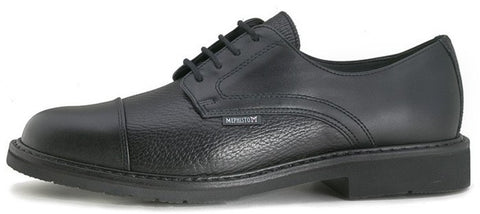 Mephisto MELCHIOR Black Men's Comfortable Lace-up Shoes with Goodyear-Welt  - Boutique du Cordonnier