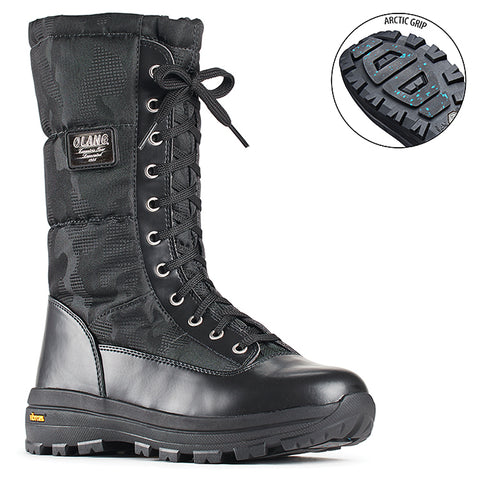 Olang PRESTIGE Nero Winter Boots Vibram Arctic Grip outsole for Women  - Boutique du Cordonnier