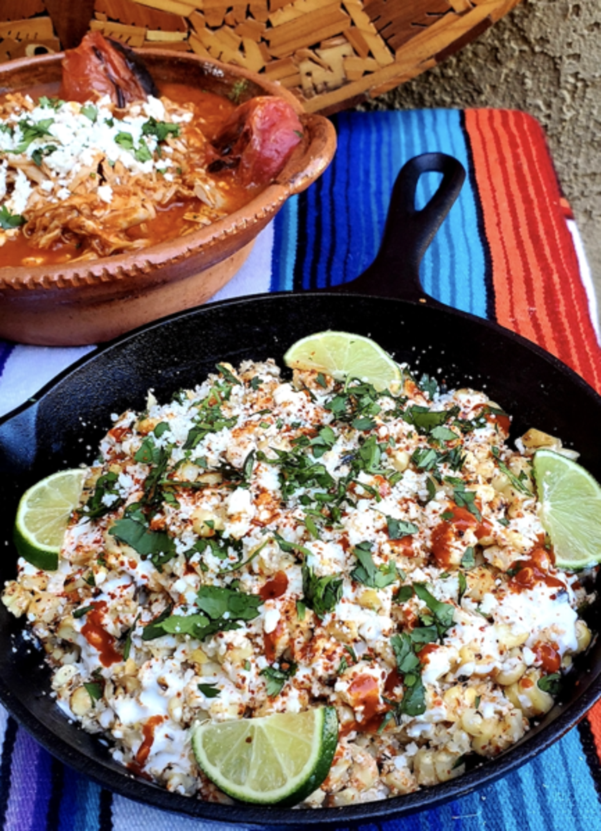 Smoked Chicken Tinga Loaded with Side Limes in Cast Iron