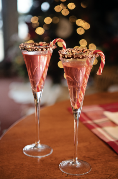 Cranberry Candy Cane Mimosa
