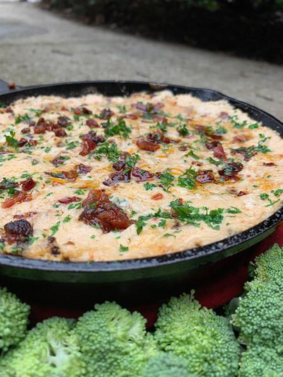 Keto Smoked Chicken Bacon Ranch Dip