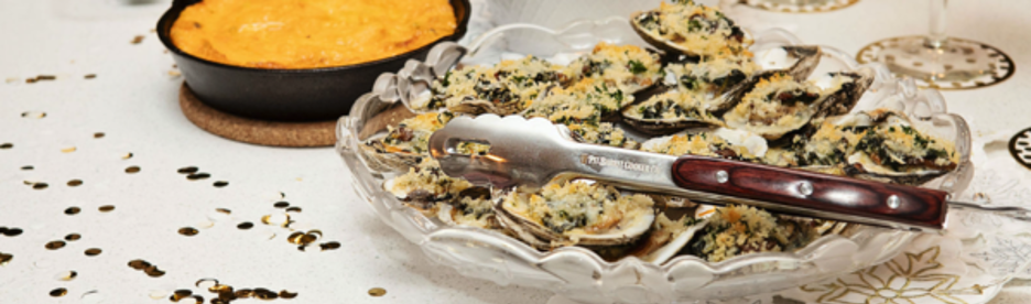 Platter of Smoked Oysters Rockefeller