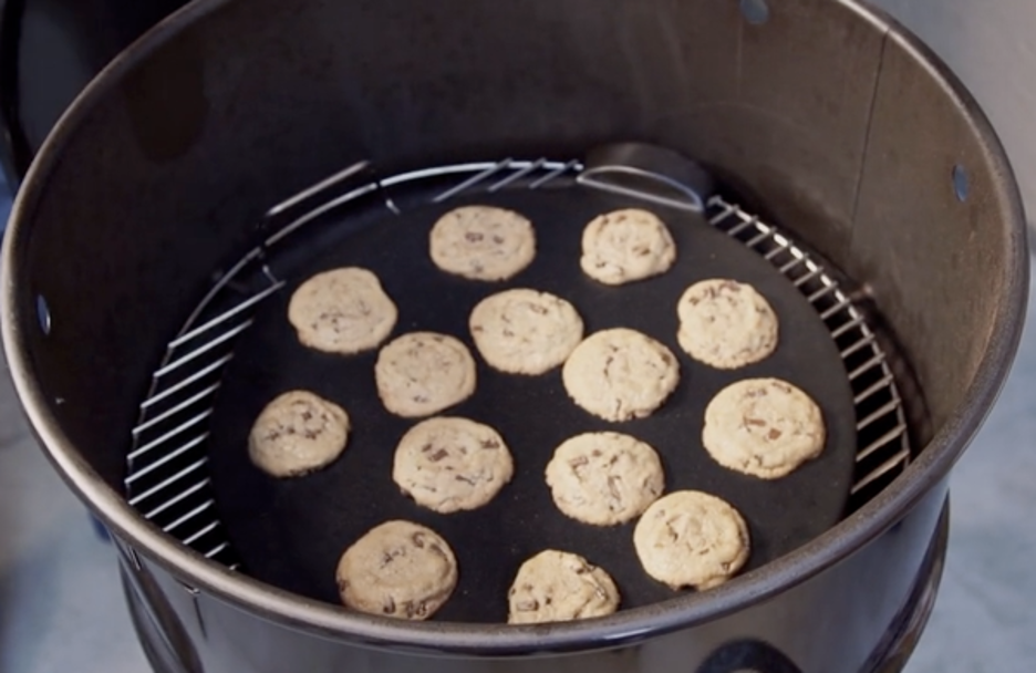 Chocolate Chip Cookies in Pit Barrel
