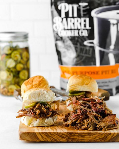 Pulled Pork Sliders with Homemade Spicy Pickles