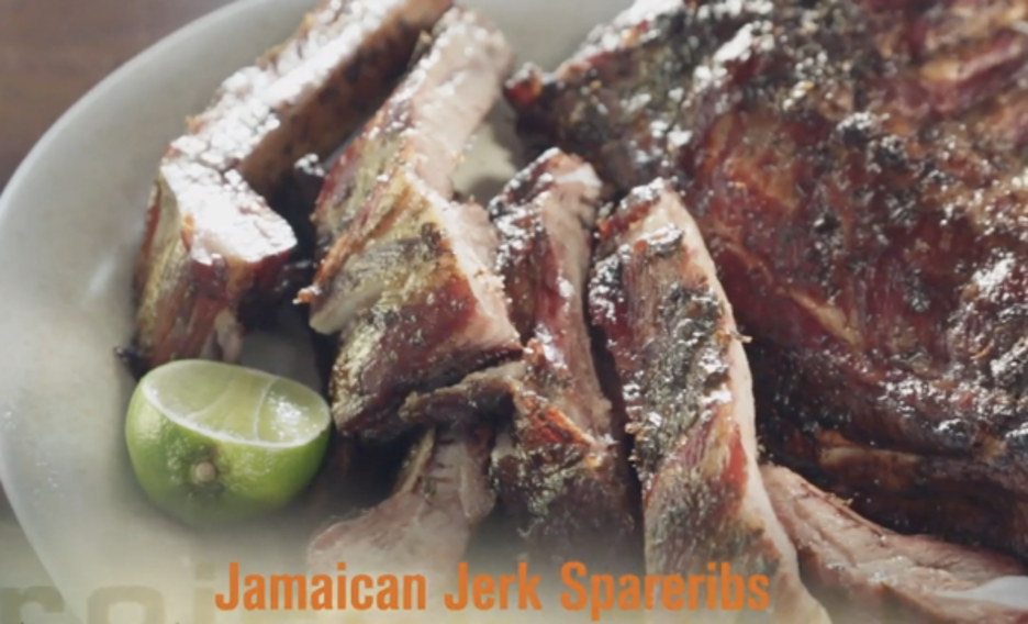 Smoked Jamaican Jerk Spareribs with Lime