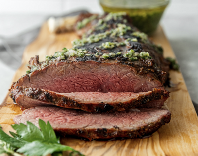 Smoked Tri-tip with Jalapeño Chimichurri