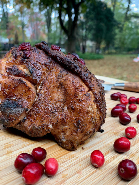 Cranberry smoked turkey breast from the pit barrel cooker