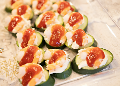 Shrimp & Cucumber Appetizer