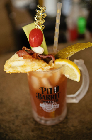 Bloody Mary in Pit Barrel Stein