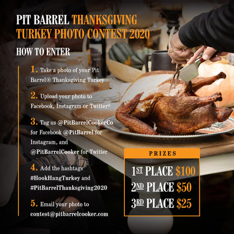 Pit Barrel Cooker Turkey Contest Official Rules