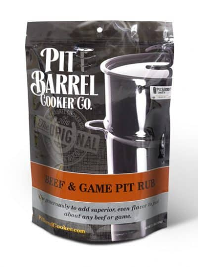 Beef & Game Pit Rub 2.5 lb. Bag - Barrel Cooker